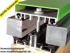 Verglasungsprofile Wintergartenprofile 60 mm für 2-fach oder 3-fach Isolierglas