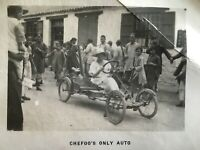 1910s CHINA CHEFOO FIRST CAR WOODS MOBILETTE MODEL CYCLE AUTOMOBILE PHOTO烟台第一辆汽车