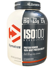 NEW DYMATIZE NUTRITION ISO100 HYDROLYZED 100% WHEY PROTEIN ISOLATE STRAWBERRY