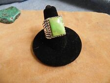 Gaspeite & Sterling Silver Ring size 8 by Tim Bedah Navajo~NEW