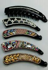 Wholesale Joblot 5pc Diamante Banana Hair Clip,Twist Comb,Fish Clip Grip Slide