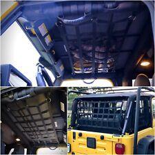 Jeep Wrangler Jl Jk Tj Yj 1 Cargo Net Back Window, Extra Storage Roof Net