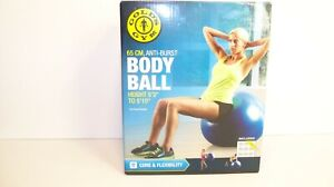 Golds Gym Body Ball With Pump 5'3 inchs to 5'10 inches Tall