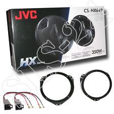 JVC 4-Wege Lautsprecher Opel Astra F+G Omega B + Lautsprecherringe + Adapter Set