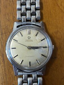 Omega Seamaster Cal 552 Automatic Vintage Watch Working . Not Original Strap