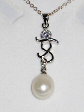 Silver Plated Chain with Pearl and silver Pendant