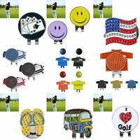 Alloy Hat Clip with Magnetic Golf Ball Marker Different Shapes Fashion New L7U6