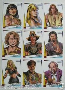 XENA - DANGEROUS LIAISONS COMIC CARDS - COMPLETE INSERT CHASE SET XC1 - XC9