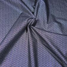 Cotton Fabric Per ½ Yard, Metallic Silver & Black Japanese Geometric, by Hoffman