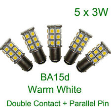 (5pc) x BA15d 3W 12V AC DC Warm White LED Boat Anchor Navigation Light Bulb Ship