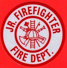 Firefighter Decal/Sticker Round JR. FIREFIGHTER FIRE DEPT.