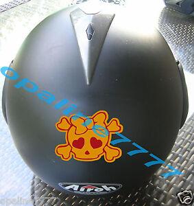 Decal Sticker Reflective Skull Helmet Harley Biker Girl J