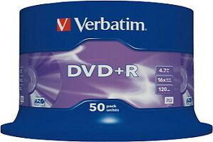 Verbatim 43550 16x DVD+R Spindle - 50 Pieces