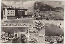SALUTI DA ALBERGO CASA AI MONTI - VEDUTINE - SAPPADA (BELLUNO) 1966