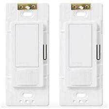 Lutron Occupancy Motion Sensor Detector Detection Automatic Light Switch 2 Pack