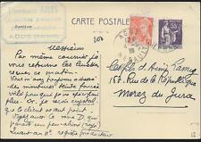 1938  ENTIER POSTAL  CARTE POSTALE  TYPE PAIX