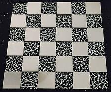 Metal Glass Silver Stainless Steel Mosaics Sheet Tile for Splashback 248-8