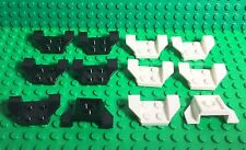 Lego New X12 Pc. Bulk Wheel Arch 2x4 (black X6,white X6 Part #41854)