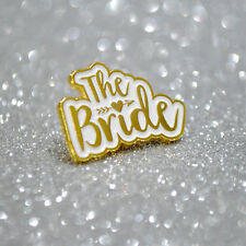 The Bride Wedding ~ Hen Party Badges ~ Bachelorette Party Enamel Lapel Pin Badge