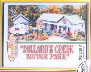 Bar Mills #872 (HO Scale) Collard's Creek Motor Park -- Laser-Cut Wood Kit - Off