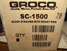 GROCO SC-1500 SCOOP STRAINER WITH MOUNT RING