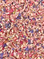 Pink Lilac Delphinium Petals Natural Biodegradable Wedding Confetti Dried Flower