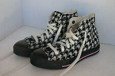 Converse All Star High Hi Tops Houndstooth Pink Trim Size Men's 5 Women's Size 7