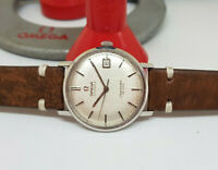 VINTAGE OMEGA DE VILLE RARE TEXTURED SILVER DIAL CAL:562 AUTO MAN'S WATCH&PAPERS