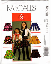 McCalls Girl's Skirts sizes 3 - 6 M5696 new and uncut