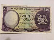 More details for royal bank of scotland £20 note 1972 jb burke