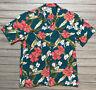 Vintage Paradise Found LL Bean Hawaiian Button Up Shirt Men's Size XL Floral