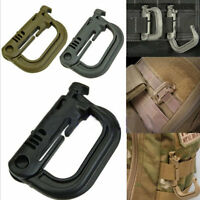2PCS Molle Carabiner Tactical Backpack EDC Shackle Snap Hook D-Ring Clip KeyRing