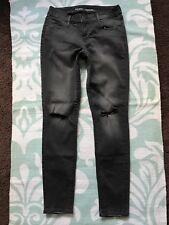 Old Navy Rockstar Mid-Rise Distressed Medium Dark Grey Denim Jeans 6 Regular