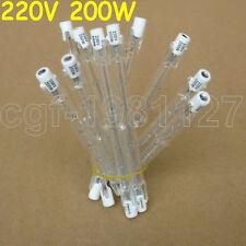 10 x 200W 200 WATT 220-240V Doubl Eanded Halogen Bulbs R7s 118mm Yellow Light
