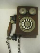 Old Vintage Wall Phone AT&T Western Electric Antique Style Wood RARE Bell s EC