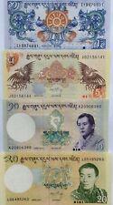 BHUTAN 1 5 10 20 Ngultrum 2006 13 SERIES GREAT UNCIRCULATED BANKNOTES