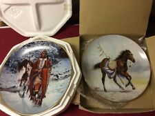 1991 War Ponies Free Spirit Plate And 1993 The Last Warriors Winter Of 41