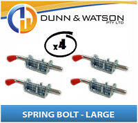 Large Spring / Shoot Bolt x 4 (Caravan, Trailer Camper, Motor home, Horse Float)