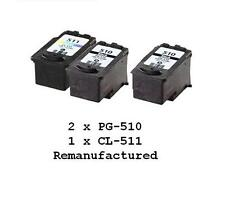 2x PG-510 PG510+1x CL-511 ink cartridges for Canon iP2700 MP240,MP270,MP480