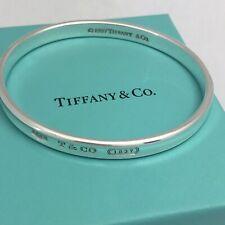 TIFFANY & CO. 1837 Bangle Bracelet Sterling Silver 925