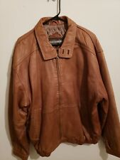 Members Only Leather Jacket Size L