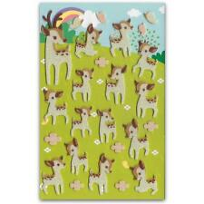 CUTE DEER FELT STICKERS Sheet Forest Animal Kid Craft Scrapbook Fuzzy Sticker
