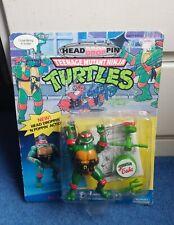 HEAD DROPPIN' RAPH - Vintage Teenage Mutant Ninja Turtles - Unpunched MOC 1991