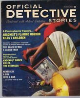 ORIGINAL Vintage December 1966 Official Detective Stories Magazine GGA