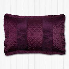 Luxury Pillowshams Viscoe Velvet Plum / Purple Pillow Shams Matt Satin *REDUCED*
