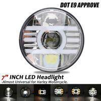 7'' Zoll LED Motorrad Hi/Lo Scheinwerfer Projektor DRL Für Harley E-Prüfzeichen