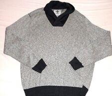 Express XL XL Azul Marino Gris Crema Jersey Suéter Cuello Chal Hombre