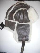 UGG Australia Bomber Aviator Shearling Hat O/S Chocolate-SEE DESCRIPTION FOR PIC