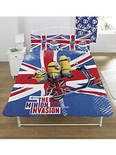 DESPICABLE ME MINION fits QUEEN bed QUILT DOONA COVER SET NEW