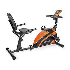 Klarfit Relaxbike 5G Orange & Black Recumbent Exercise Bicycle Training Computer